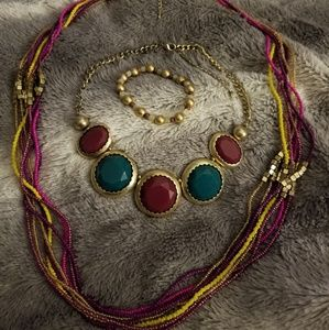 Jewelry - Bohemian Style Beaded Multistrand Necklace